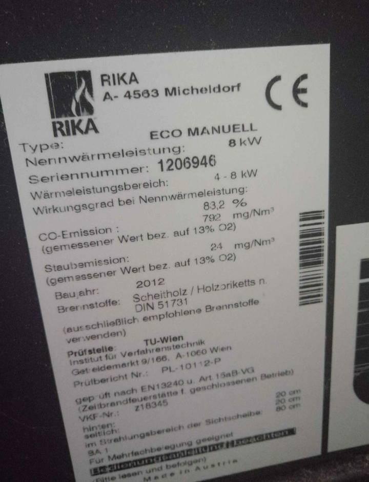 Poele à bois, marque RIKA A-4563 Micheldorf