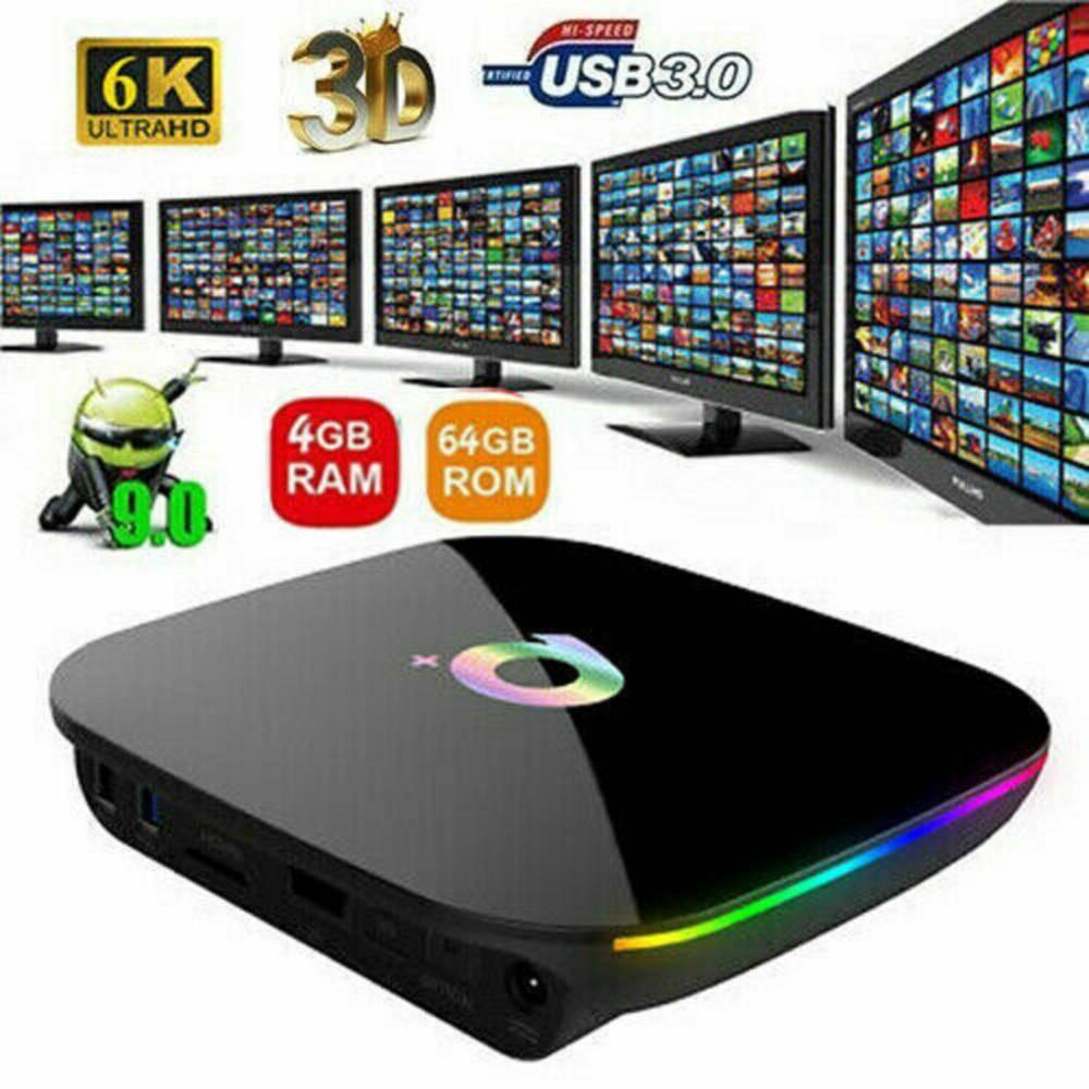 Nouveau 6K couleur Smart TV Box  Android 9.0. (4G/ 64G) Neuve