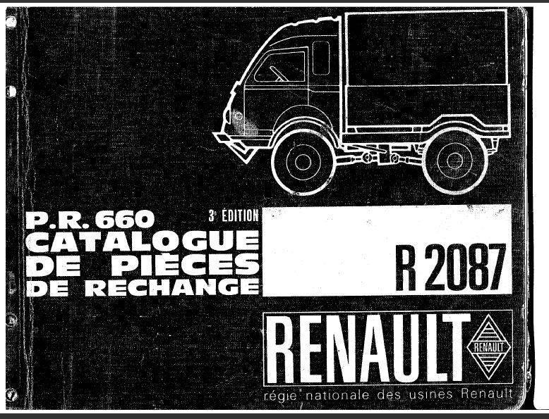 manuels d'atelier renault goelette  et R 2087